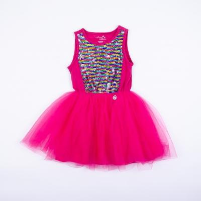Vestido Niña Fucsia